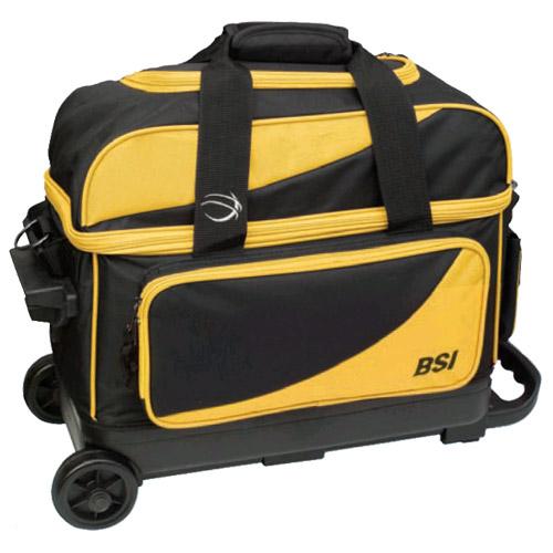 BSI Prestige 2 Ball Roller Bag Black/Yellow