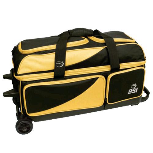 BSI Prestige 3 Ball Roller Bag Black/Yellow