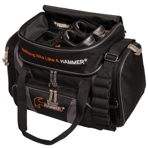 Hammer Double Deluxe Tote Bag Black/Carbon Storage