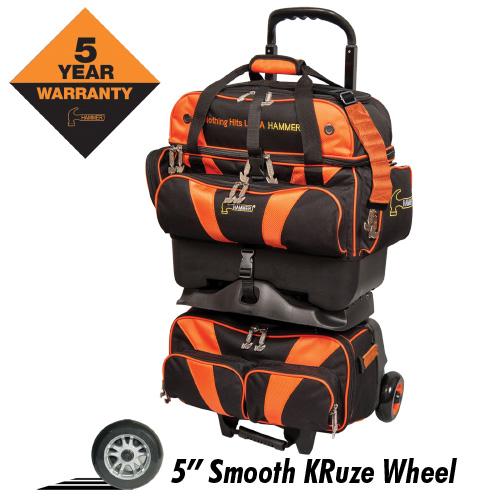 Hammer Premium 4 Ball Roller Bag Black/Orange