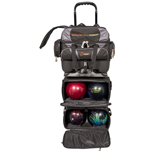 Hammer Premium 6 Ball Roller Bag Black/Carbon Storage