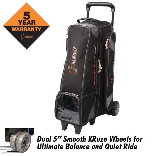 Hammer 4x4 Diesel 4 Ball Inline Roller Bag Carbon