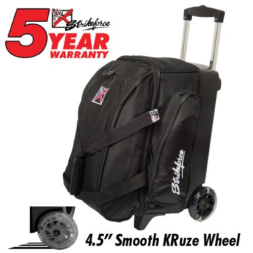 KR Strikeforce Cruiser Smooth 2 Ball Roller Bag Black