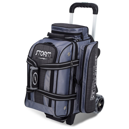Storm 2-Ball Rolling Thunder Bowling Bag Charcoal Plaid/Black/Grey