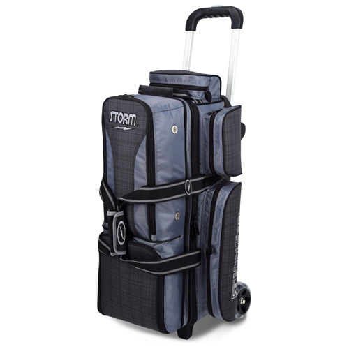 Storm 3-Ball Rolling Thunder Bowling Bag Charcoal Plaid/Black/Grey