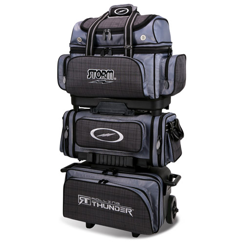 Storm 6-Ball Rolling Thunder Bowling Bag Charcoal Plaid/Grey/Black