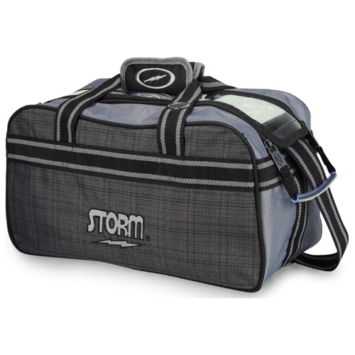 Storm 2-Ball Tote Bowling Bag Charcoal Plaid/Grey/Black