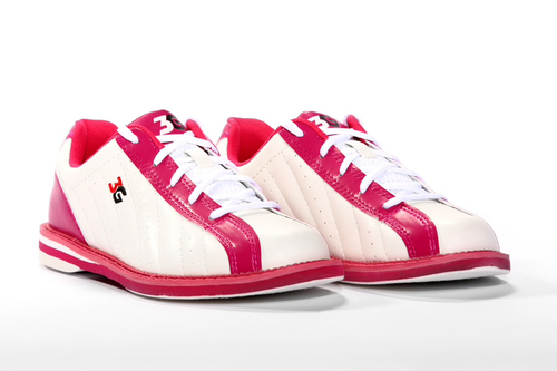 3G Kicks Womens Bowling Shoes White/Pink