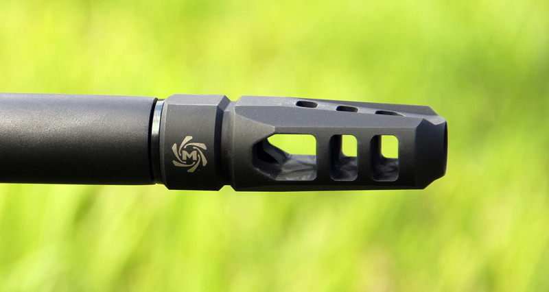 Mechforce Enforcer Muzzle Brake Compensator 5/8-24 TPI 6 5mm Creedmoor with  4 Variable Timing Crush Washers