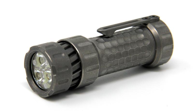 Mechforce - Mechtorch EDC Flashlight, Titanium, Stonewashed