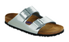 Birkenstock Arizona Soft Footbed - Silver Birko-Flor
