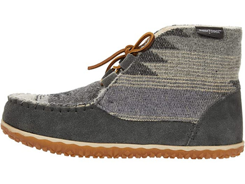 Minnetonka Torrey Lace Up Grey