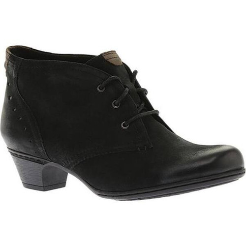 Aria Lace Up Bootie Black