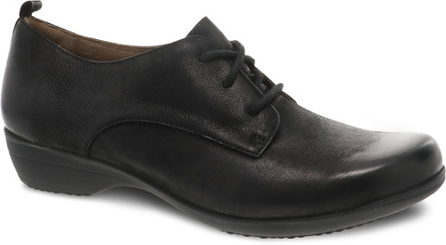 Dansko Finola Black Burnished Nubuck Oxford