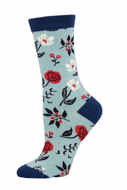 Socksmith Floral Motif Blue