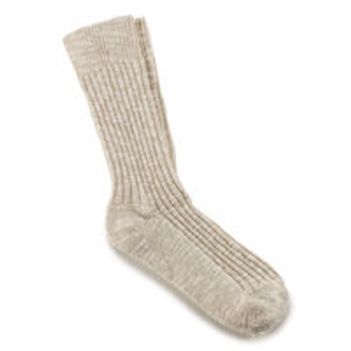 Birkenstock Cotton Slub Sock Beige/White