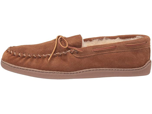 Minnetonka Sheepskin Hardsole Moc Golden Tan