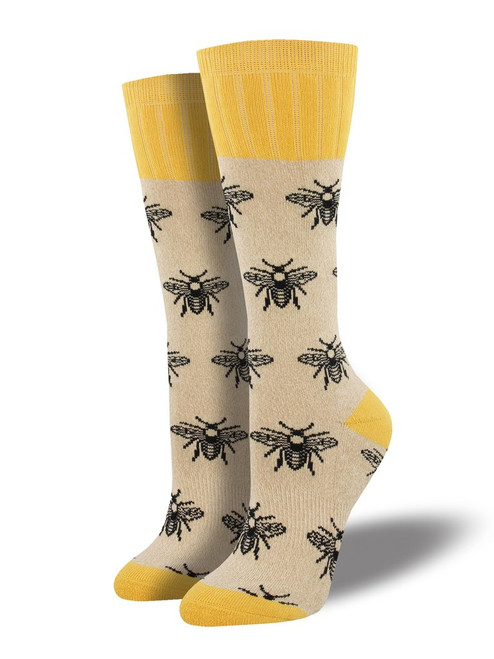 Socksmith Bee Outlands Oatmeal