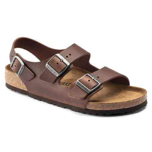 Birkenstock Milano Vintage Wood Roast Leather