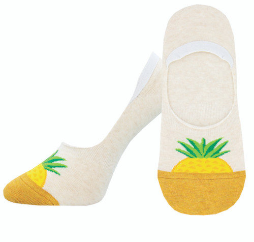 Socksmith Pineapple Sock Liner Ivory Heather
