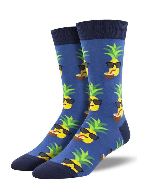 Socksmith Aloha Pineapple Blue Sock