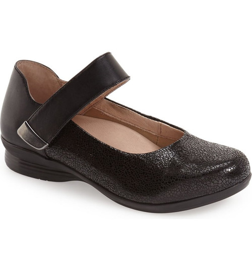 Dansko Audrey Black Crackle