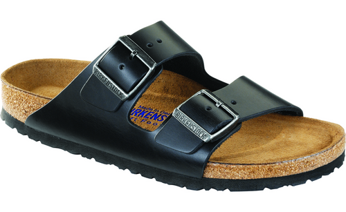 Birkenstock Arizona Soft Footbed - Black Amalfi Leather