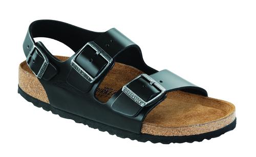 Birkenstock Milano Soft Footbed - Black Amalfi Leather