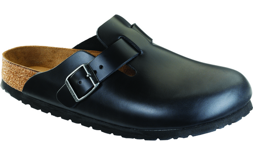 Birkenstock Boston Soft Footbed - Black Amalfi Leather