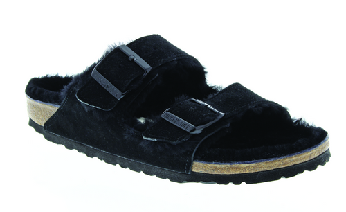 Birkenstock Arizona Shearling - Black Suede