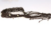 Boho Macrame & Sea Glass hand made Belt w recycled silver chain