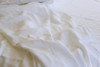 Vintage white linen sheet set