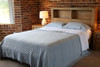 Cotton Coverlet Blanket Bedspread Blue K/Q - Vintage Style. Pictured King on Queen