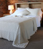 Cotton Comforter Set - Ivory - K/Q - Vintage Style Boho
