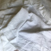 100% French Linen White bed sheet