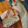 Silk Boho Hippy Long Coat - Scarlet - Yummy Linen - XL