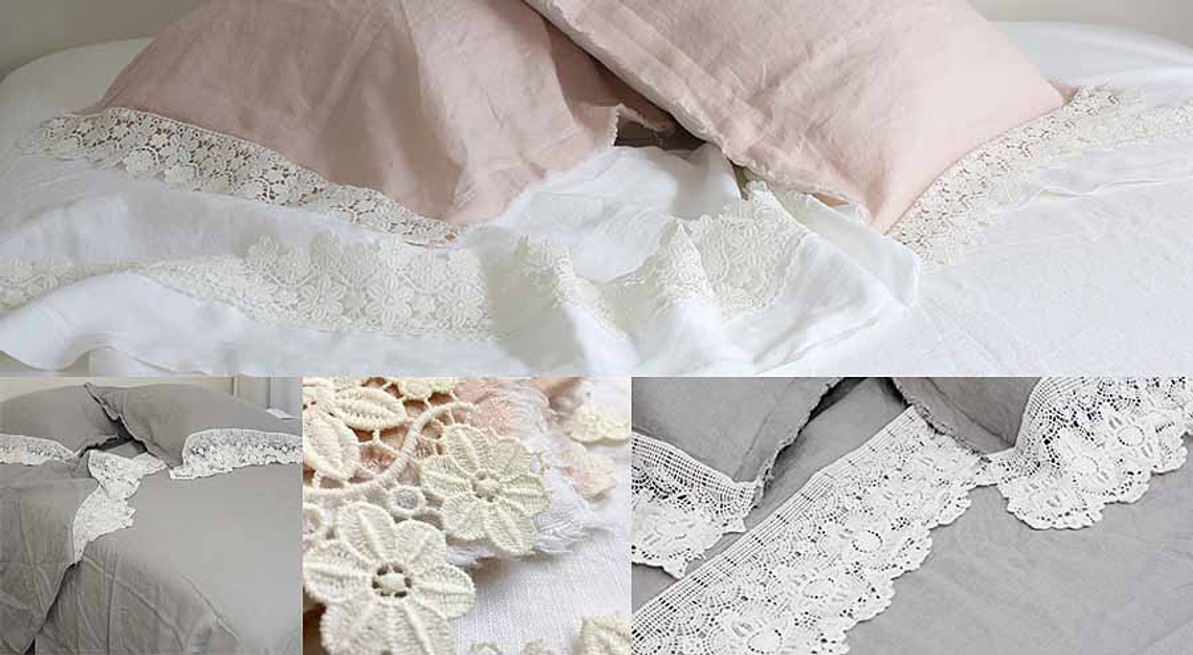 Flax Linen's and Lace - Farmhouse Style Luxury Bedding
