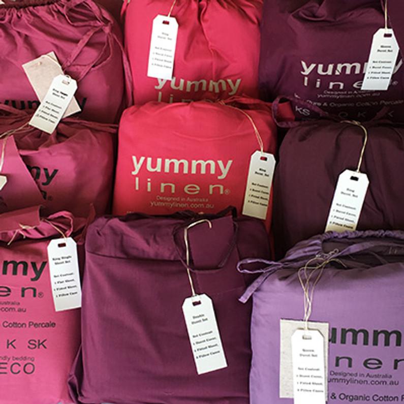 100% Cotton Bedding Collection- Yummy Linen