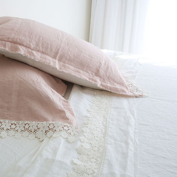 Linen & Lace White Queen Bed  Sheet Set- Yummy  Linen