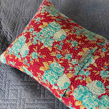 Vintage Sari Yoga Pillow - Lumbar Support Cushion Covers