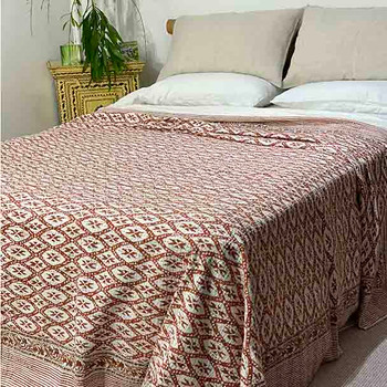 Kantha Quilt -Sienna Earth Tones - King / Queen