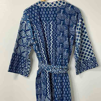 Cotton Kimono Bath Robe Large - Yummy Linen