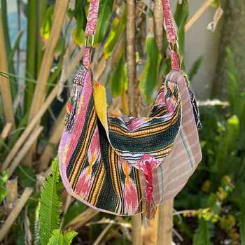 Boho Hippy Vintage Kantha Handbag 5 - Yummy Linen