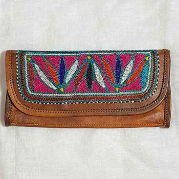 Boho Leather Wallets - Embroidered Ladies 2