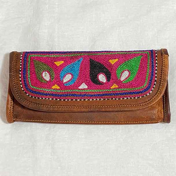 Leather Wallets - Embroidered Ladies 4