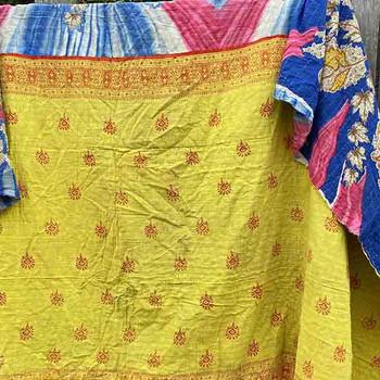 Kantha Tablecloth -Vintage Lightweight Beach Throw Blanket 10