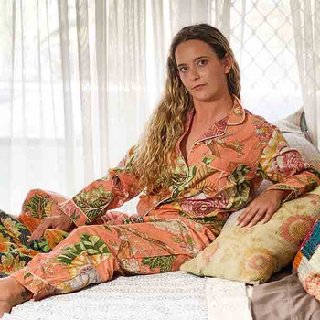Cotton Women's Designer Sleepwear - Cotton Pyjamas Coral