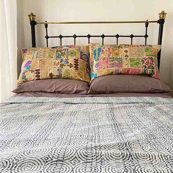 Silk Bohemian Embroidered Pillow Covers
