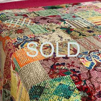 Velvet Blanket Patchwork Kantha Quilt 9