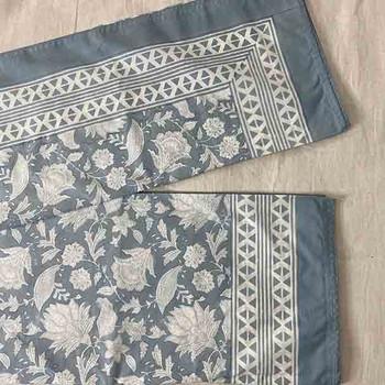 Cotton Coastal Flat Sheet with 2 x Pillowcases